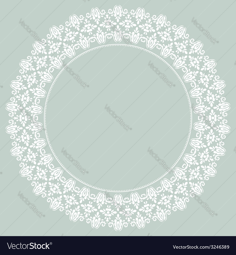 Damask pattern orient light ornament vector | Price: 1 Credit (USD $1)