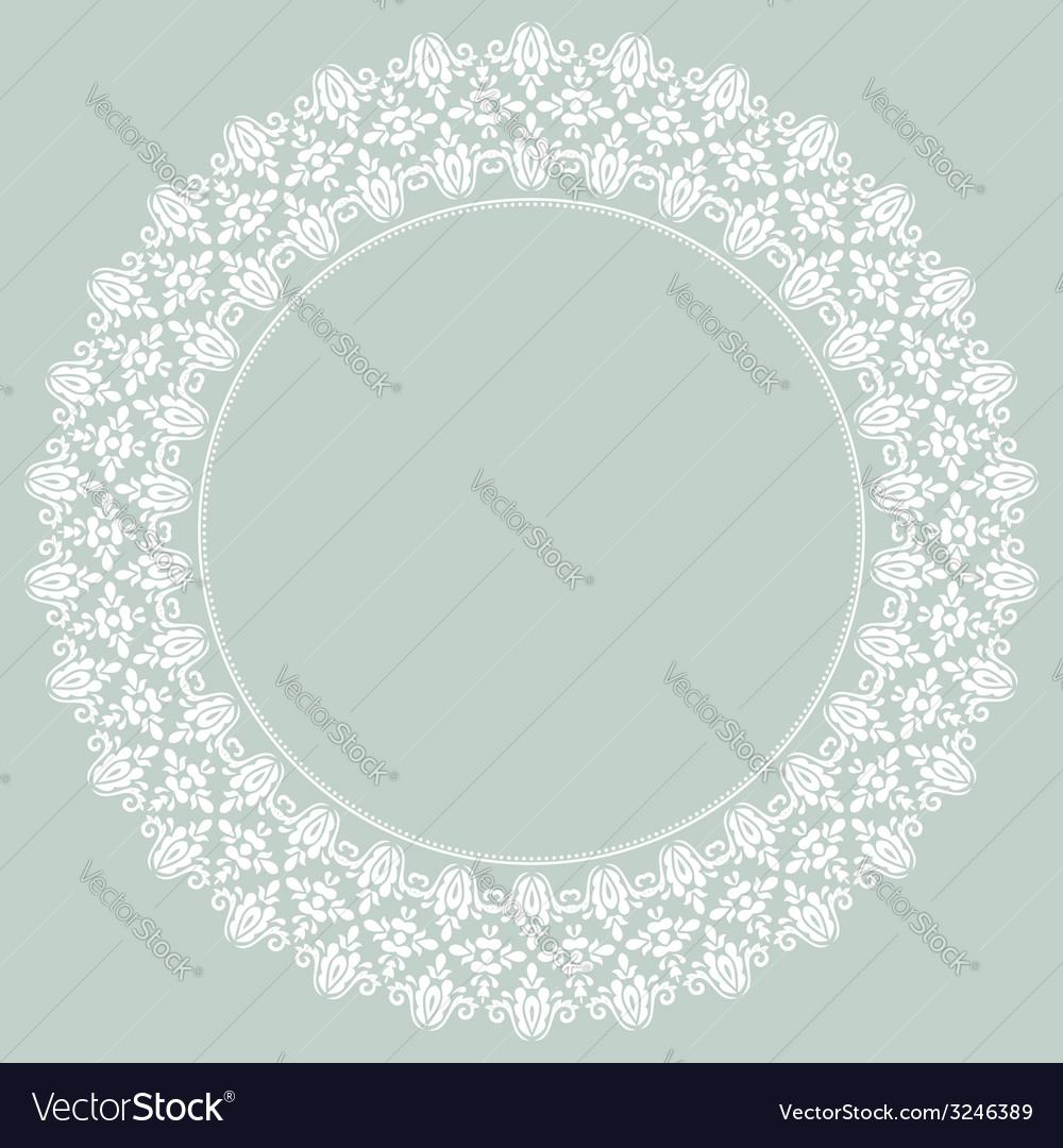 Damask pattern orient light ornament vector | Price: 1 Credit (USD $1)