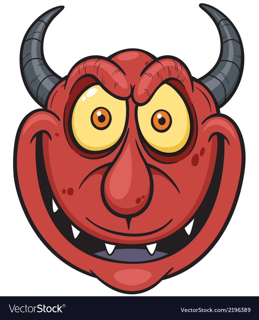 Devil face vector | Price: 1 Credit (USD $1)