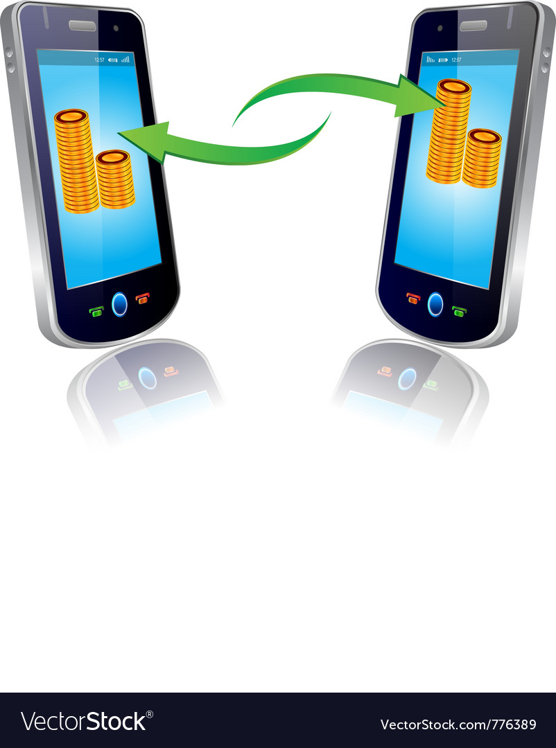 Mobile money vector | Price: 3 Credit (USD $3)