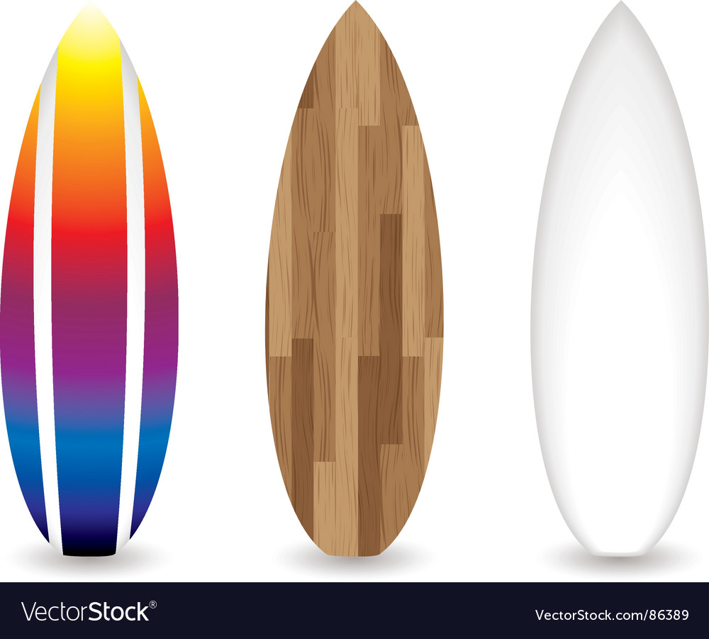 Retro surfboards vector | Price: 1 Credit (USD $1)