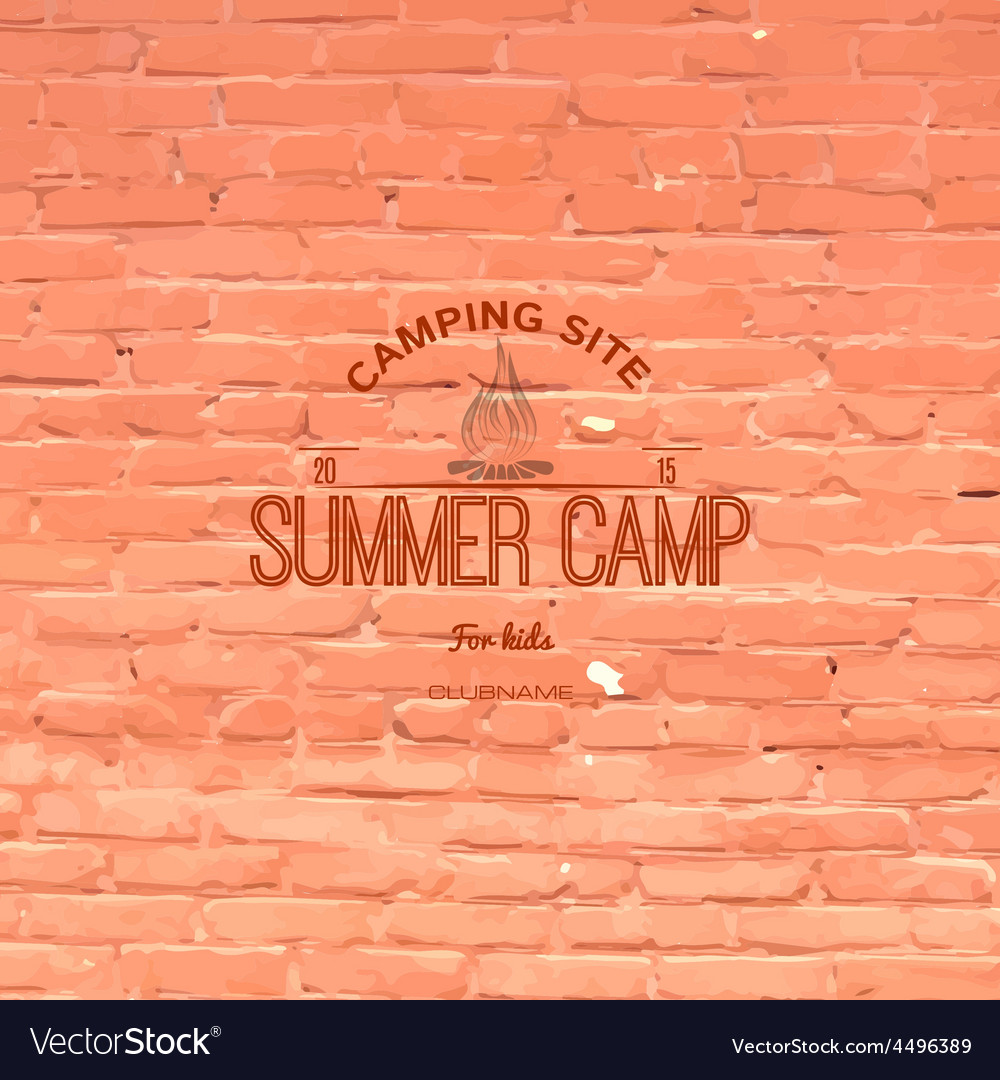 Summer camp badges logos and labels for any use vector | Price: 1 Credit (USD $1)