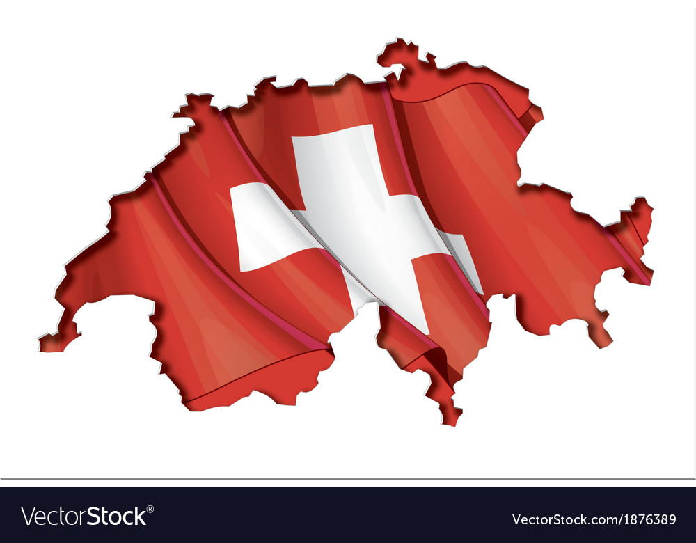 Swiss map flag vector | Price: 1 Credit (USD $1)
