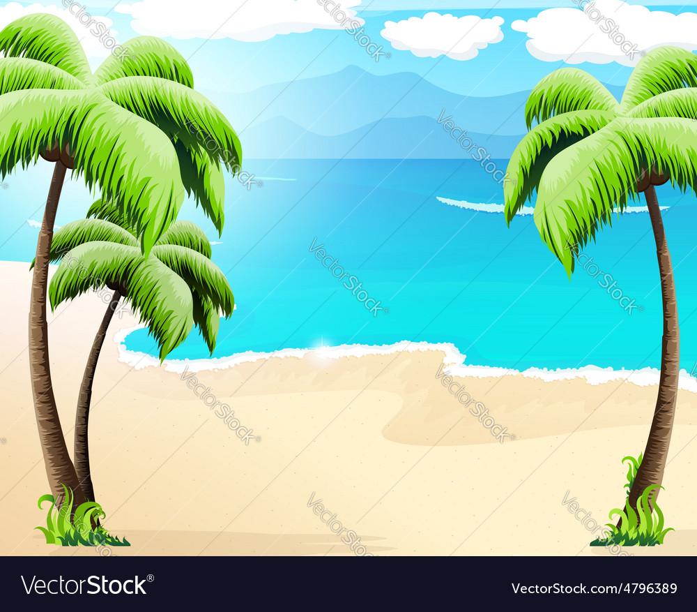 Tropical coast vector | Price: 3 Credit (USD $3)