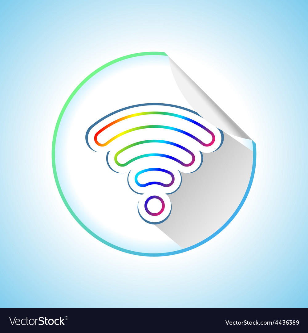 Wi-fi sticker vector | Price: 1 Credit (USD $1)