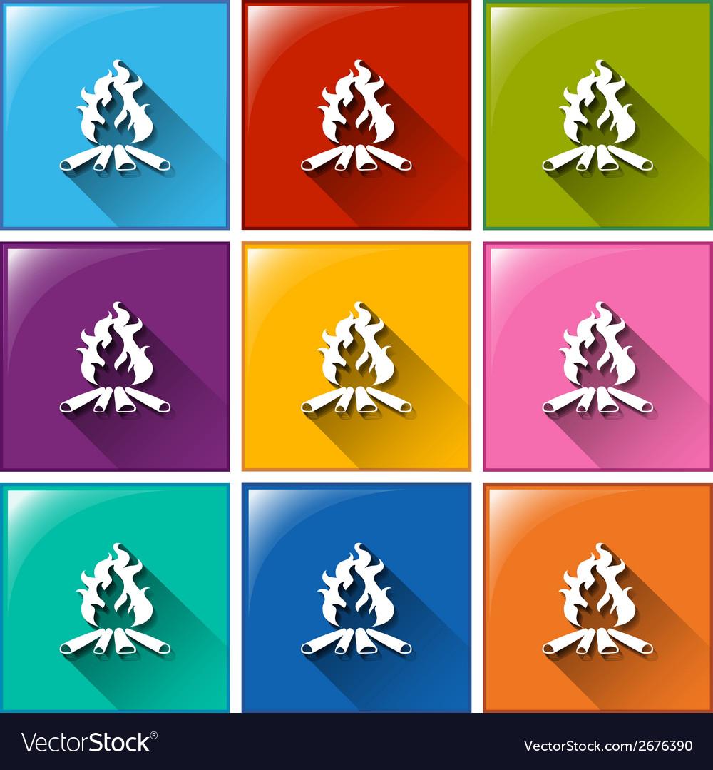 Campfire icons vector | Price: 1 Credit (USD $1)