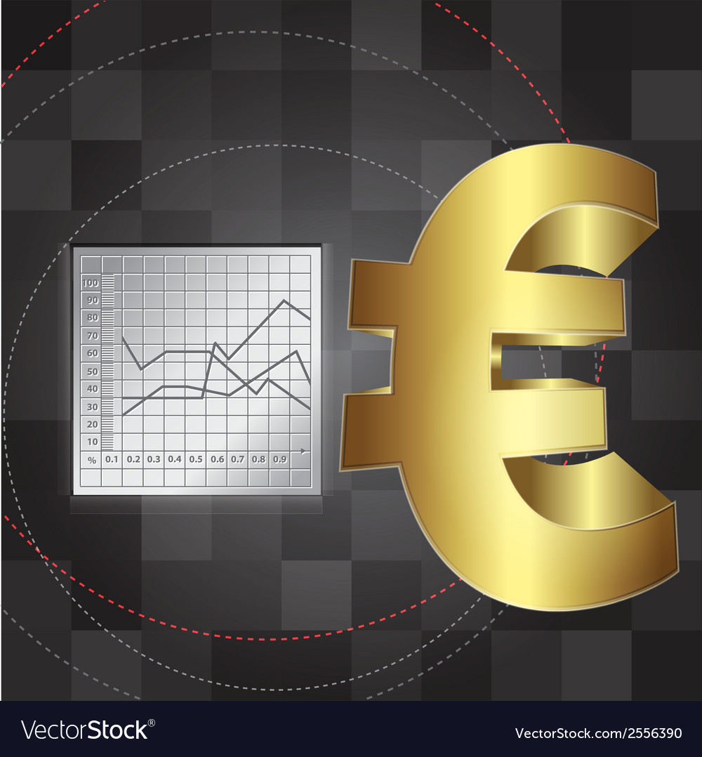 Financial background with euro sign vector | Price: 1 Credit (USD $1)