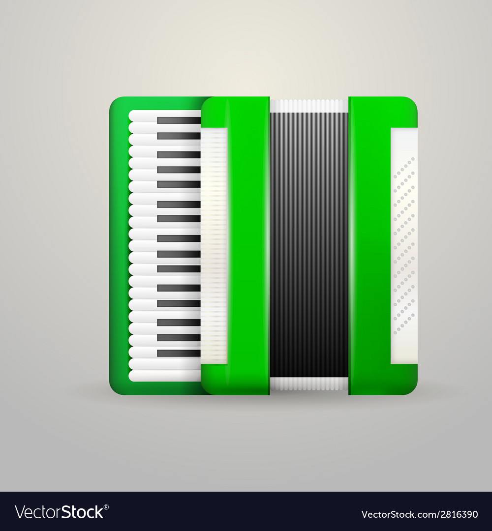 Green accordion vector | Price: 1 Credit (USD $1)