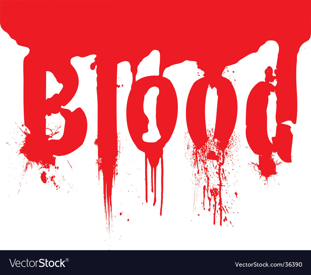 Header blood dribble text vector | Price: 1 Credit (USD $1)