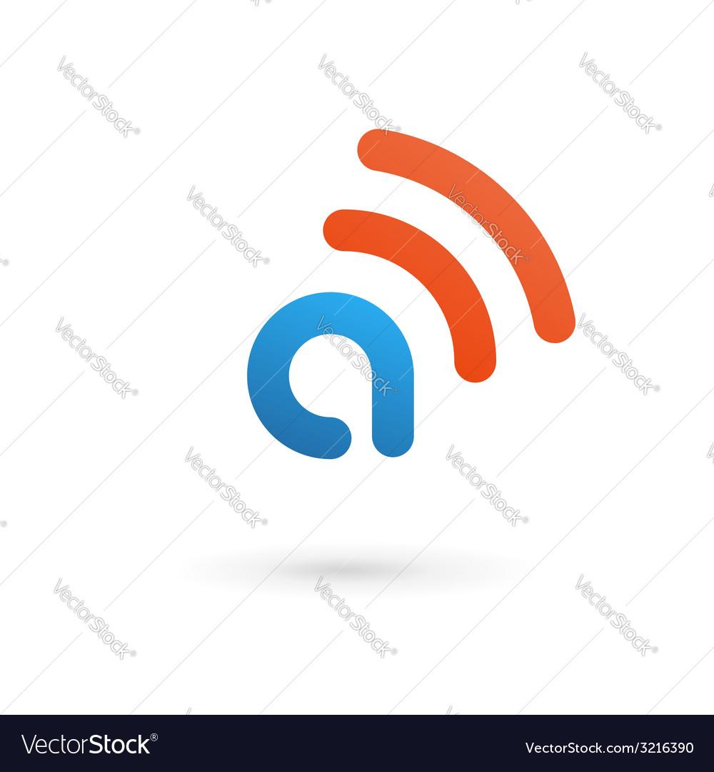 Letter a wireless logo icon design template vector | Price: 1 Credit (USD $1)