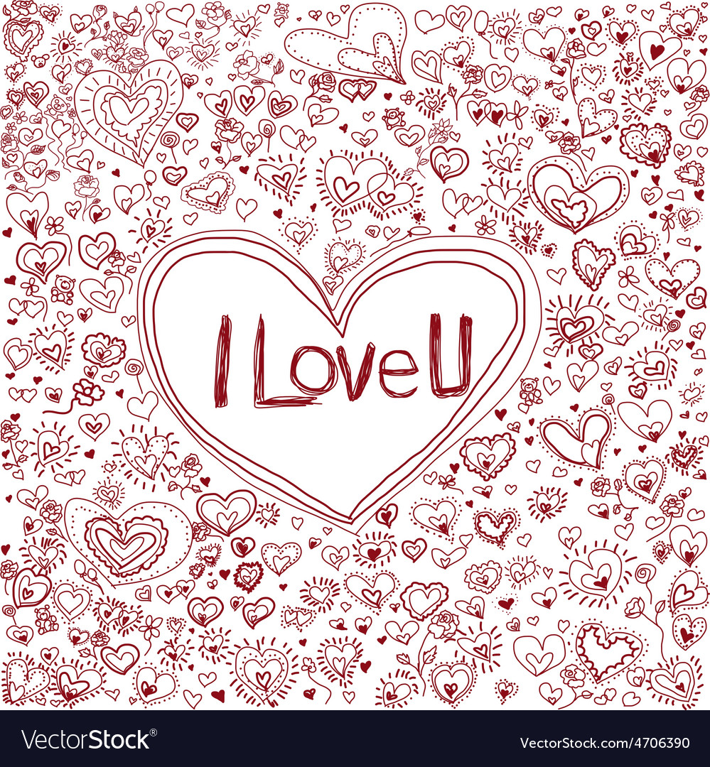 Pink heart background for valentine day vector | Price: 1 Credit (USD $1)
