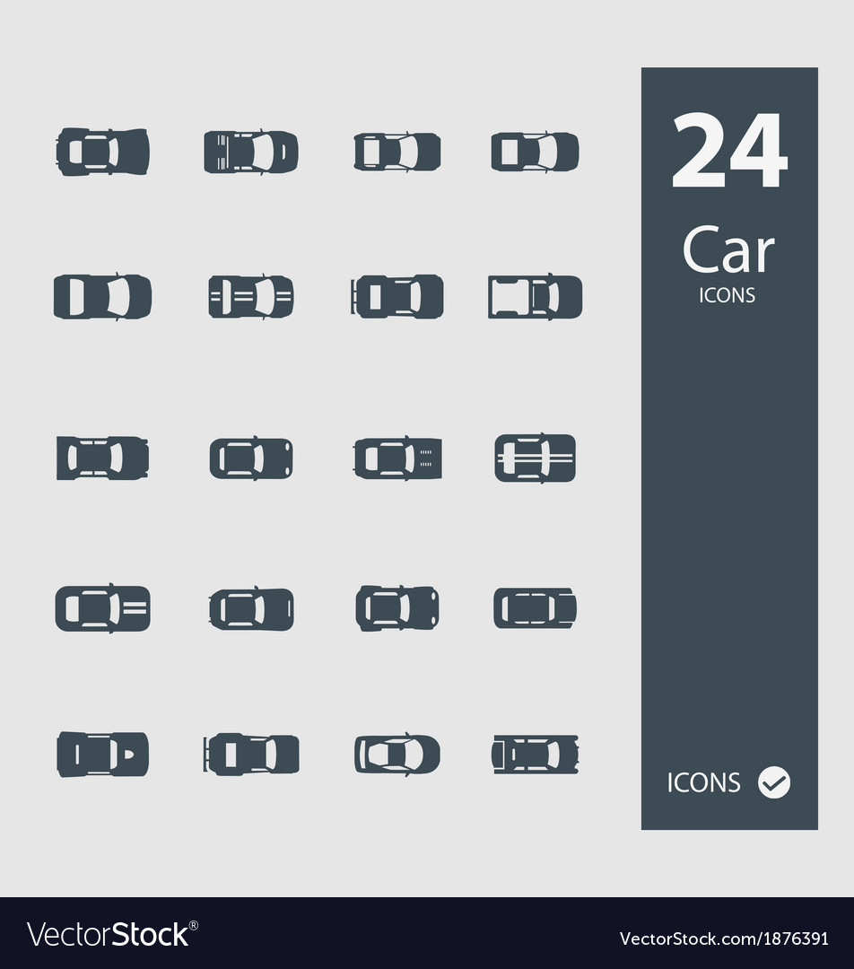 Auto icons in flat style vector | Price: 1 Credit (USD $1)