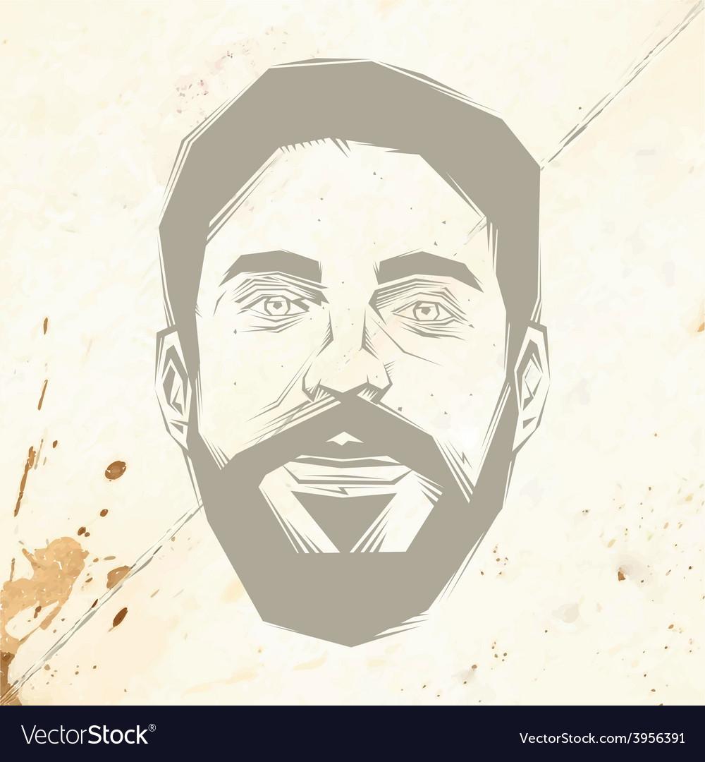 Bearded man vector   Price: 1 Credit (USD $1)