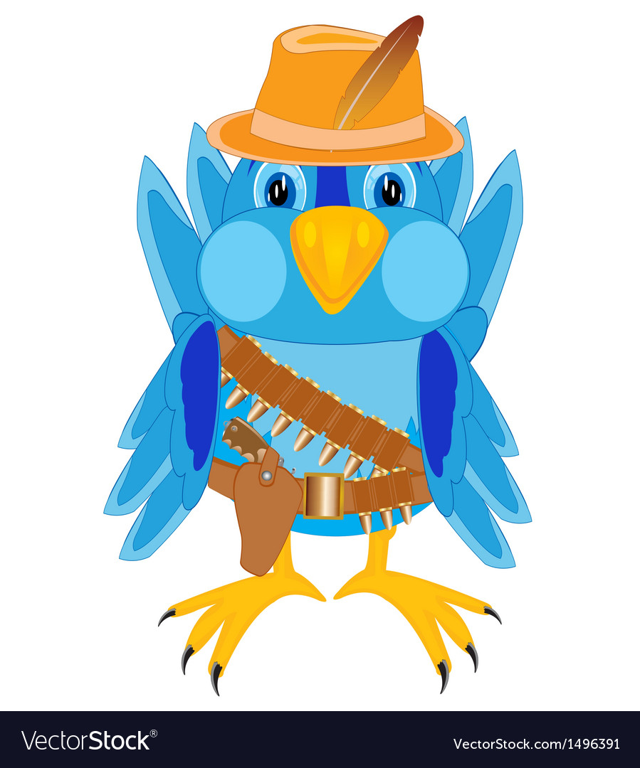 Bird in cloth cowpuncher vector | Price: 1 Credit (USD $1)