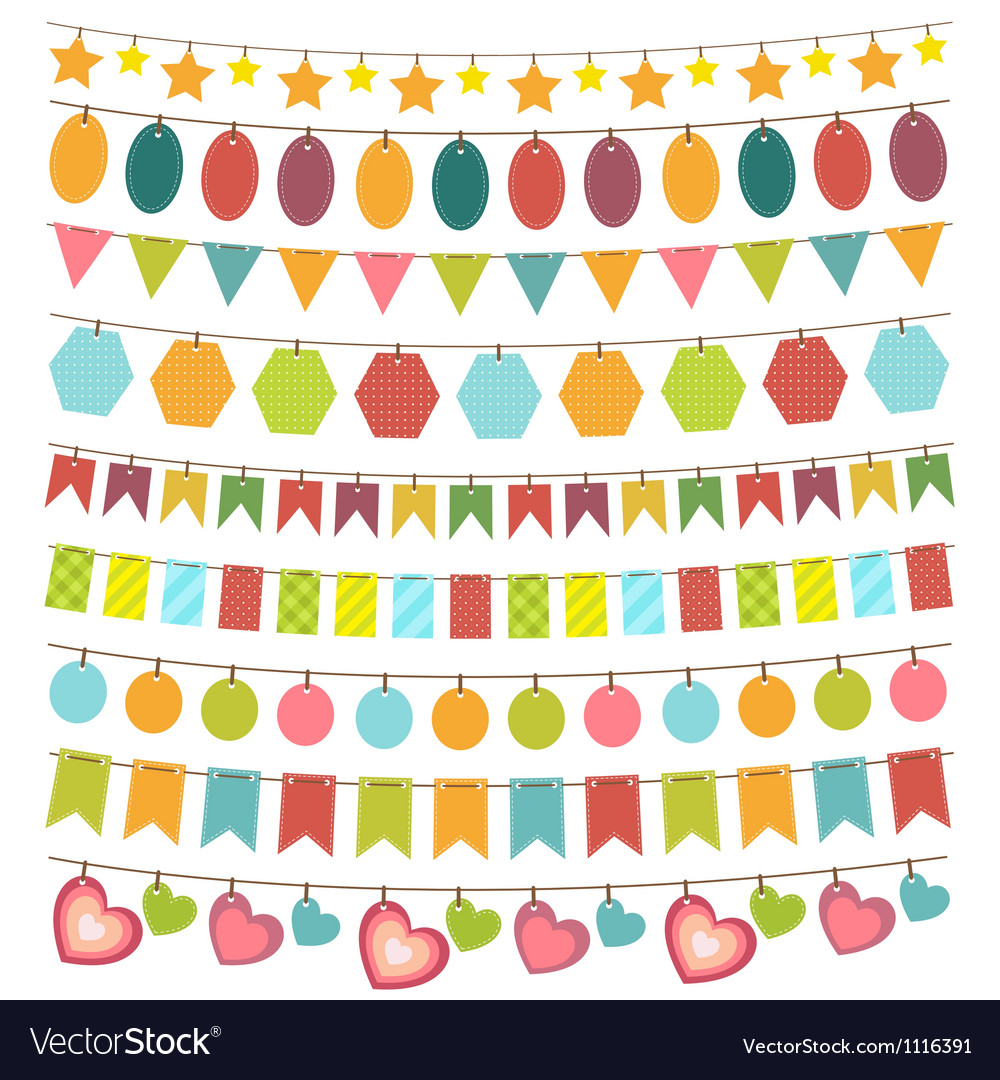 Bunting and garland vector | Price: 1 Credit (USD $1)