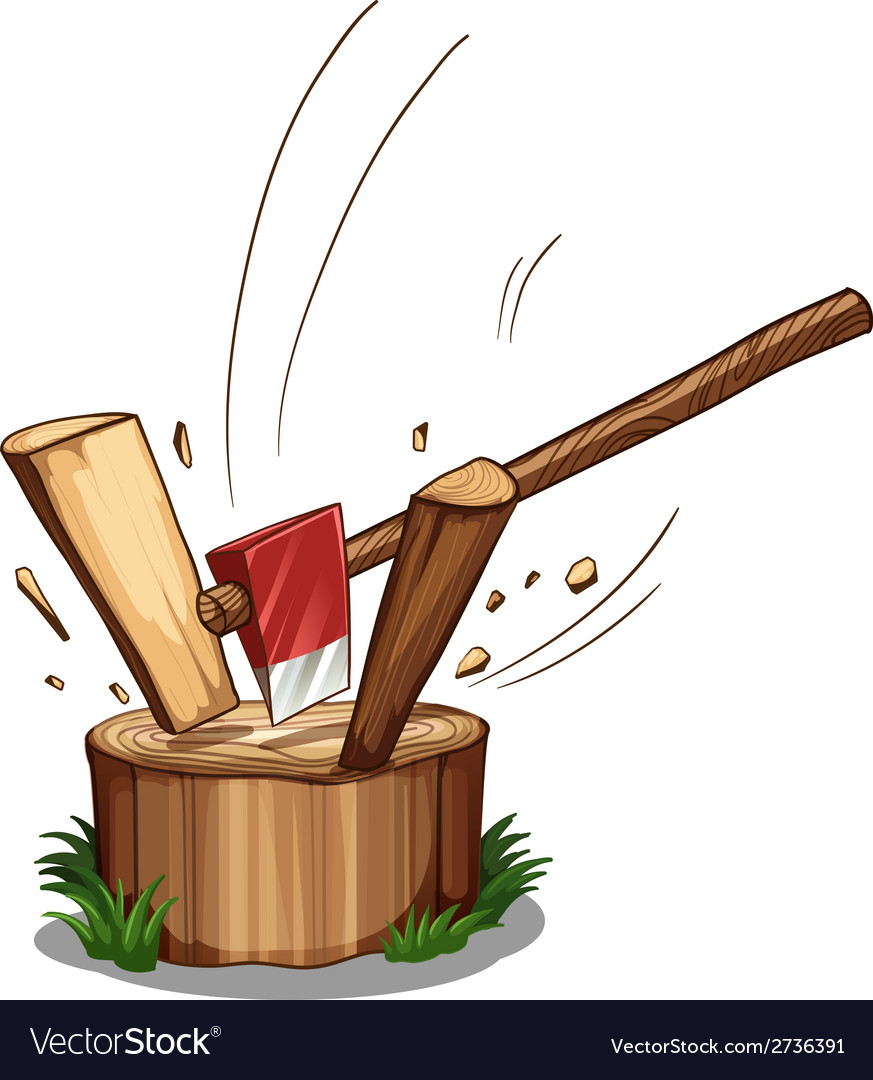 Chopping log vector | Price: 1 Credit (USD $1)