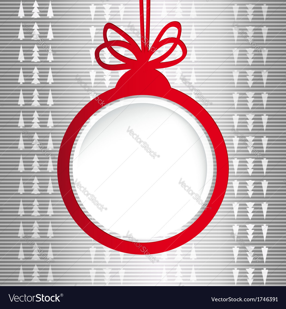 Christmas ball in the form of an empty frame for vector | Price: 1 Credit (USD $1)