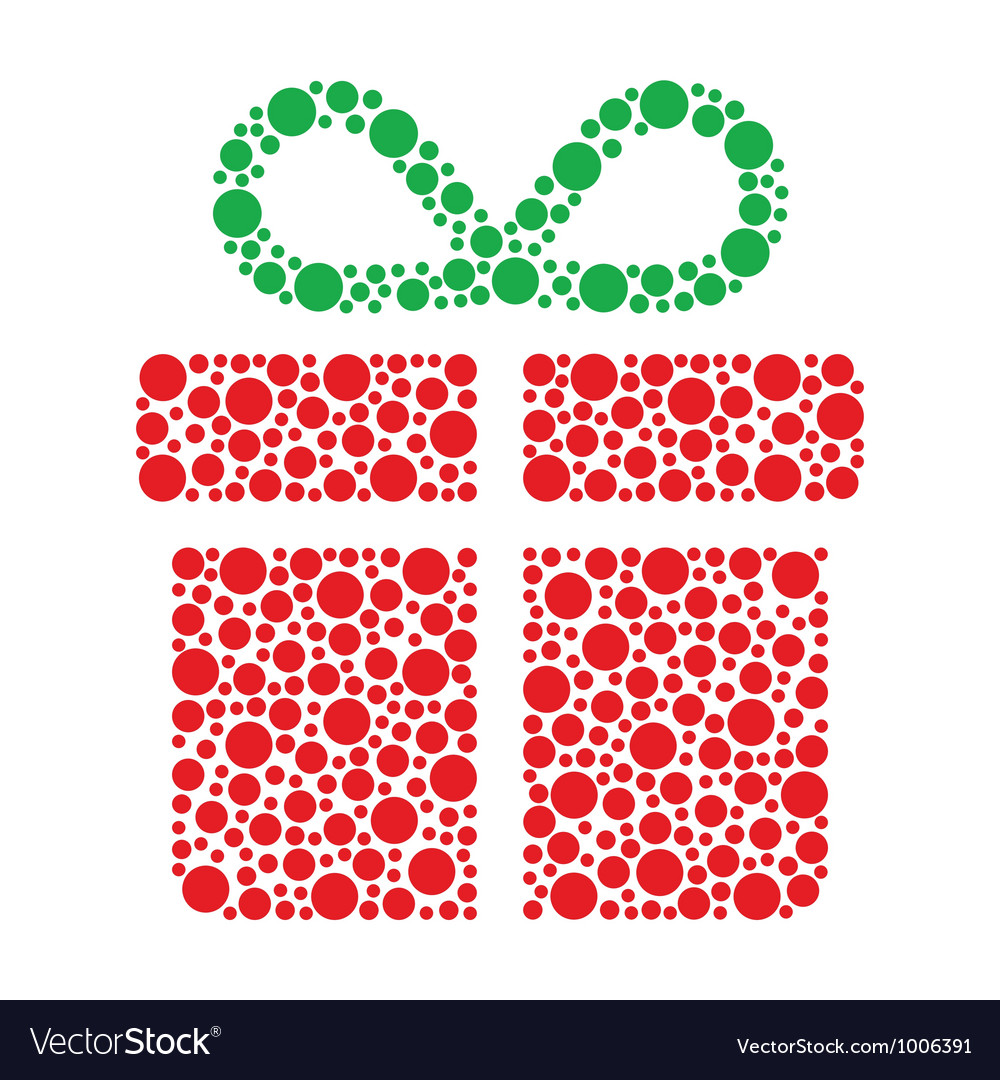 Christmas present made of circles vector | Price: 1 Credit (USD $1)