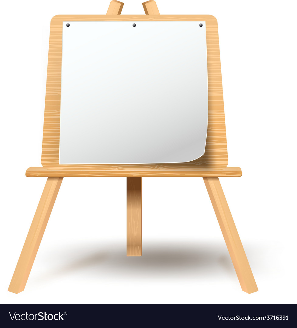 Easel with blank paper vector | Price: 1 Credit (USD $1)