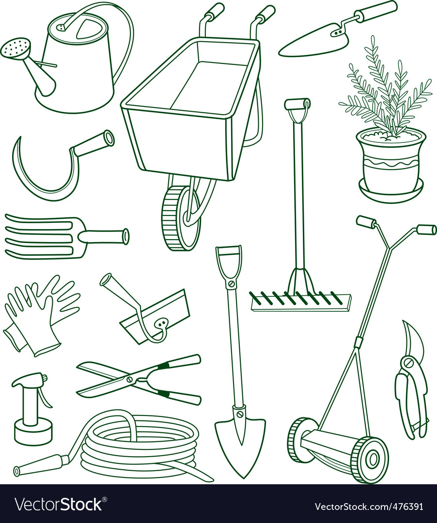 Gardening vector | Price: 1 Credit (USD $1)
