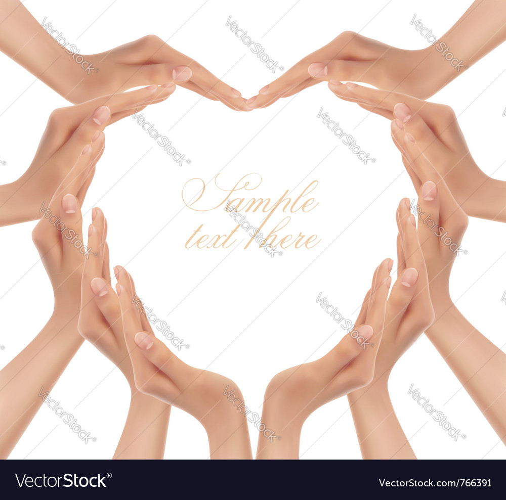 Hands making a heart vector | Price: 3 Credit (USD $3)