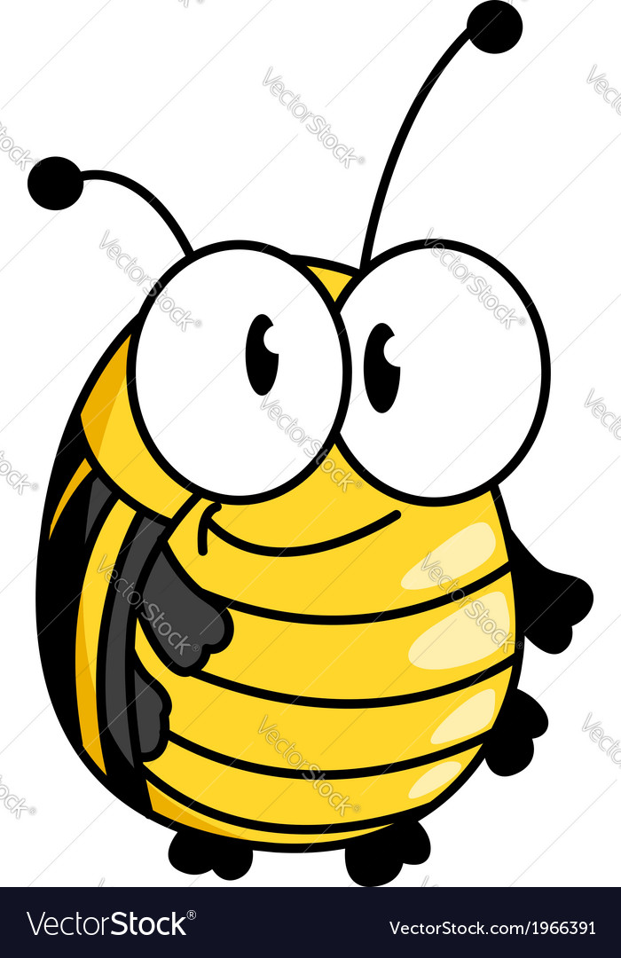 Happy smiling fat little bumble bee vector | Price: 1 Credit (USD $1)