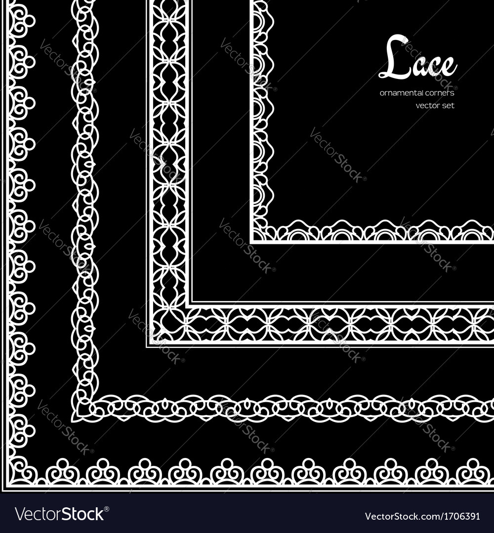 Lace corners set vector | Price: 1 Credit (USD $1)