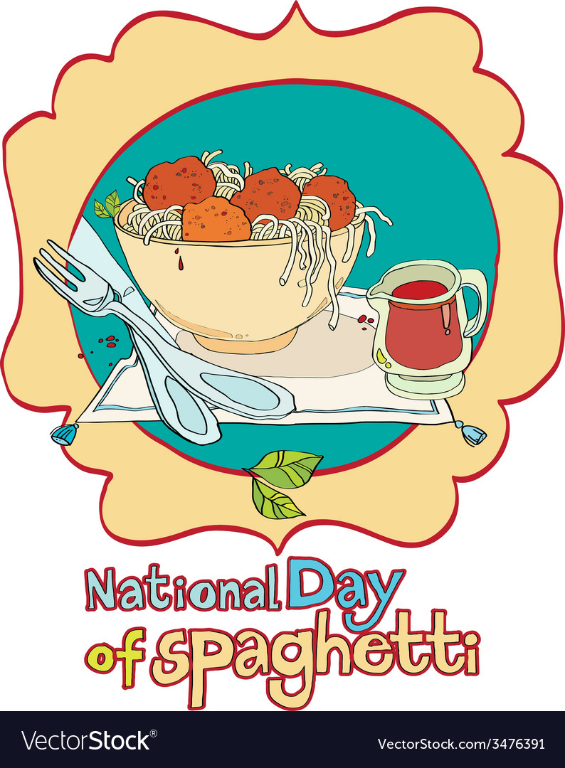 National day of spaghetti vector | Price: 1 Credit (USD $1)
