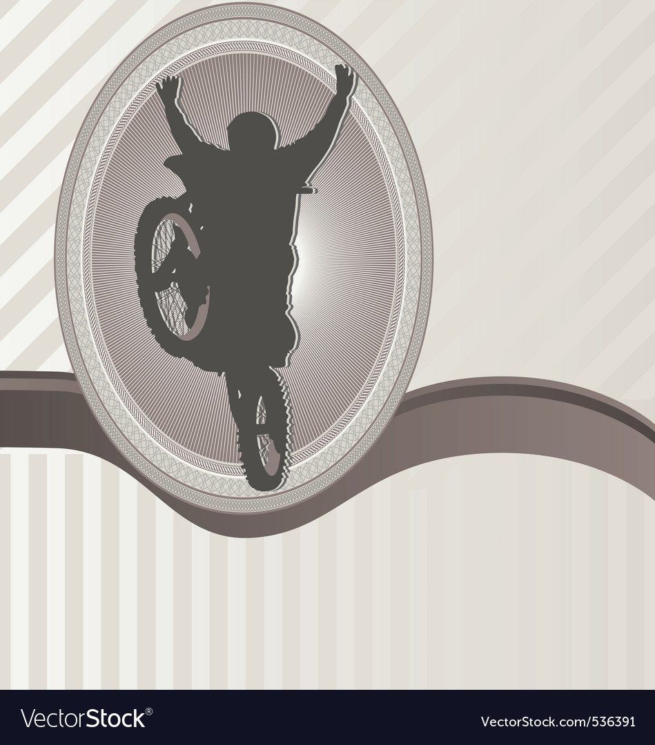 Ornament frame and motorcycle vector | Price: 1 Credit (USD $1)