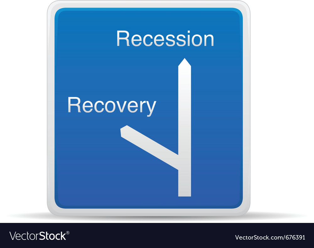 Road signs - recession recovery vector | Price: 1 Credit (USD $1)