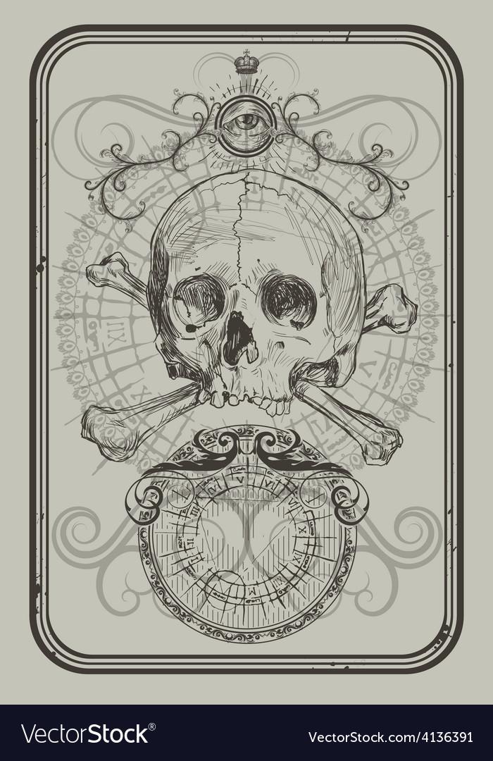Skull and bones vector | Price: 3 Credit (USD $3)