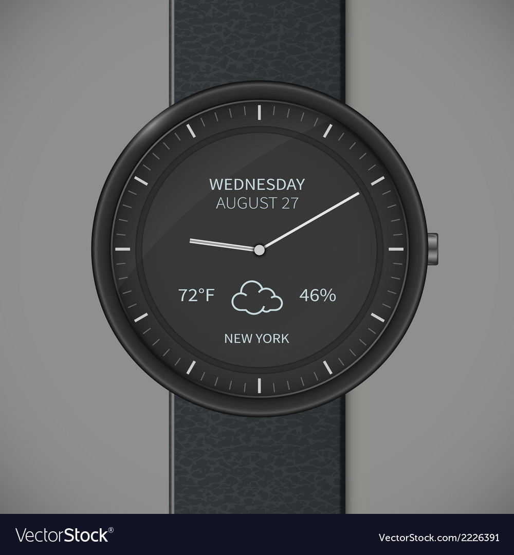 Smartwatch mockup - weather vector | Price: 1 Credit (USD $1)
