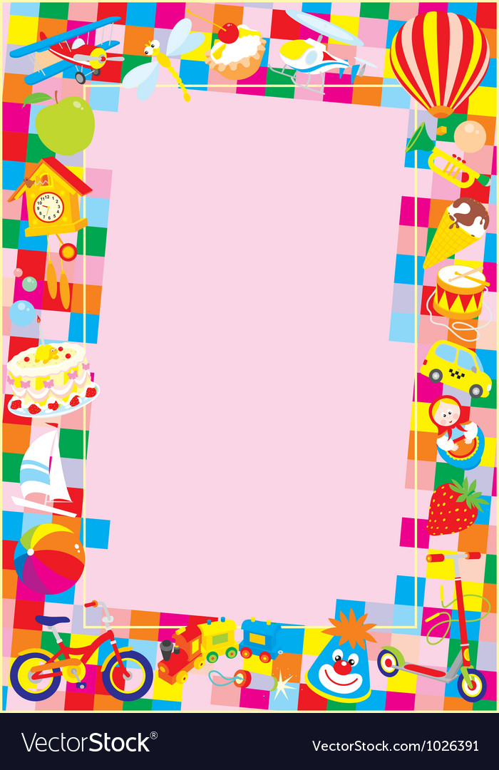Toy border vector | Price: 1 Credit (USD $1)