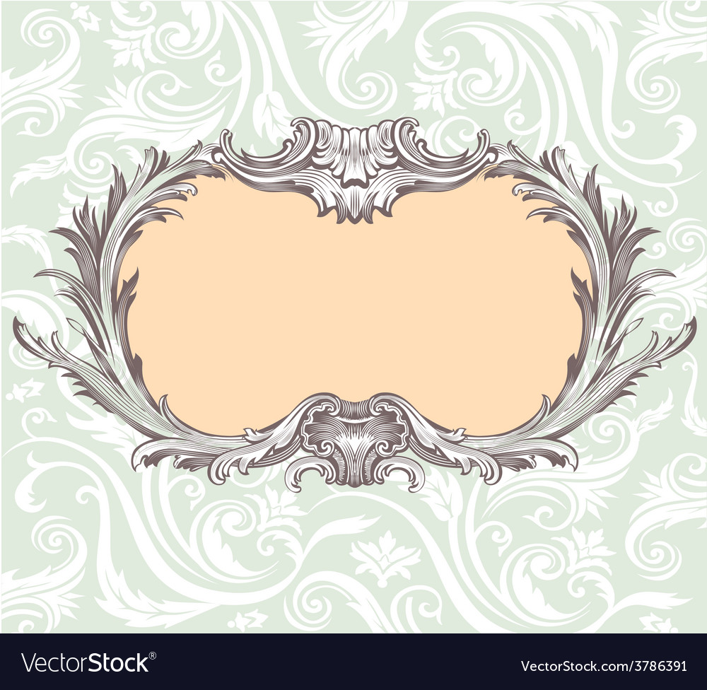 Vintage decorative frame vector | Price: 1 Credit (USD $1)