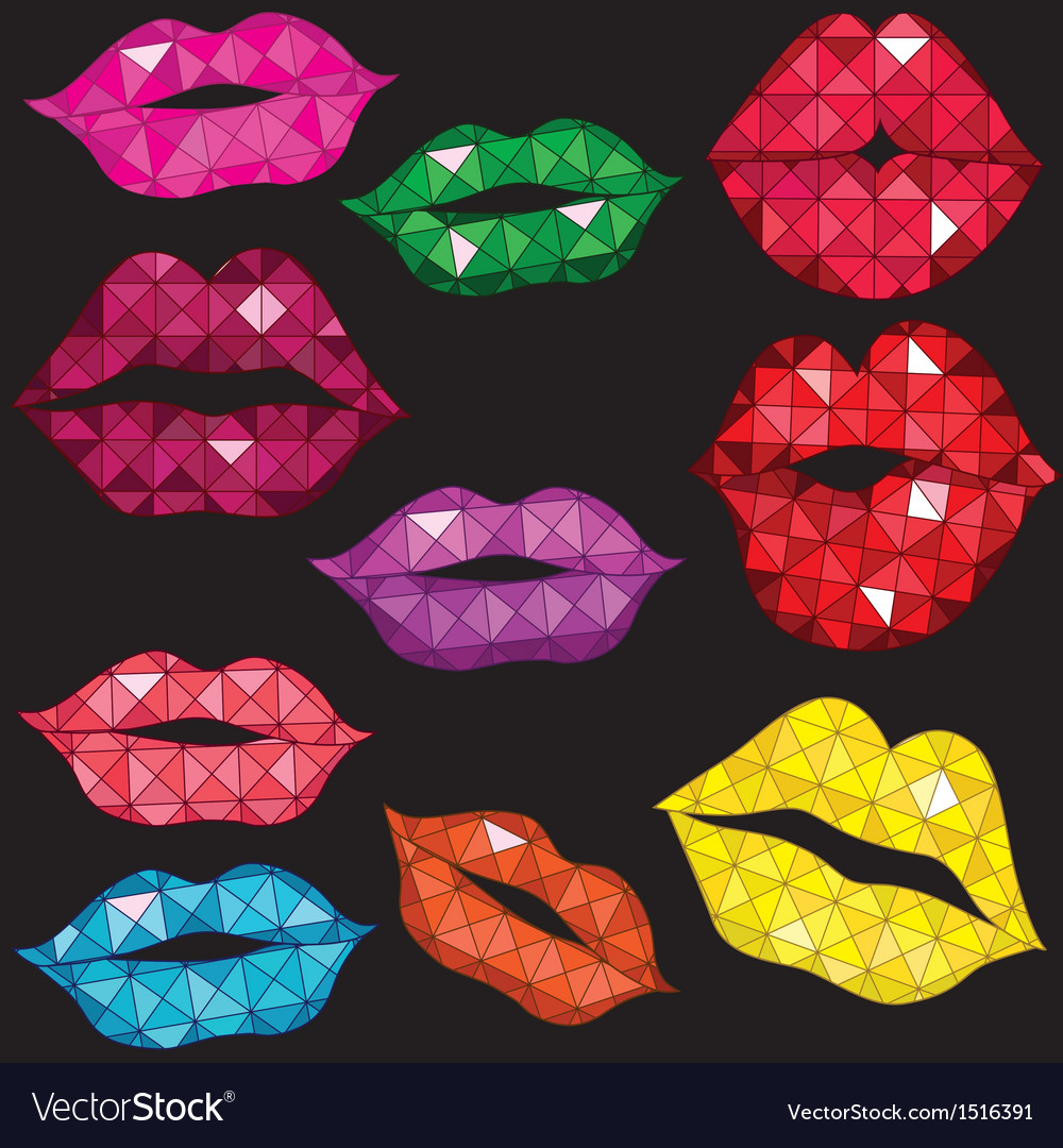 Woman gloss lip mouth kiss vector | Price: 1 Credit (USD $1)
