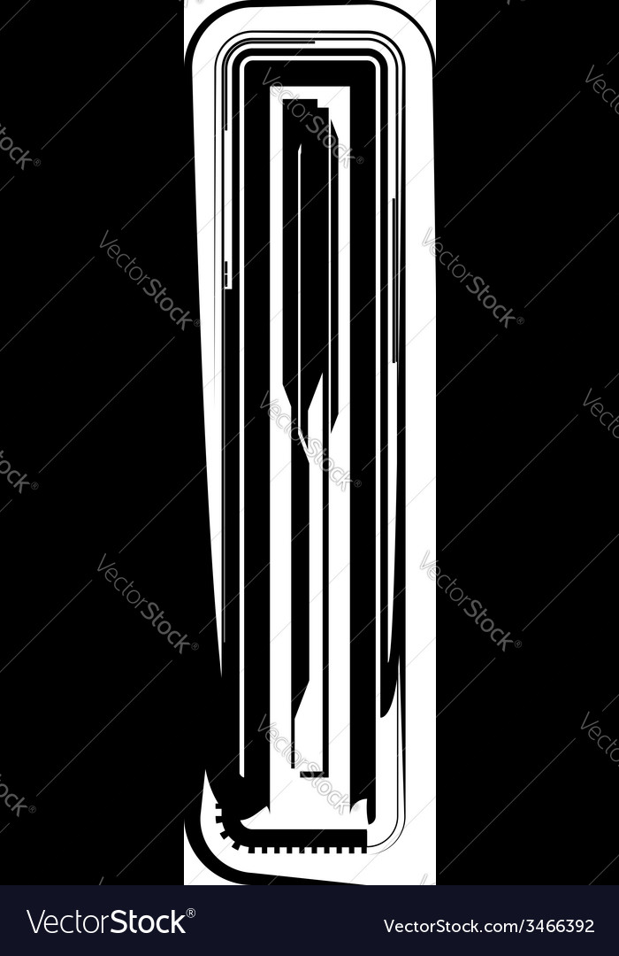 Abstract letter l vector   Price: 1 Credit (USD $1)