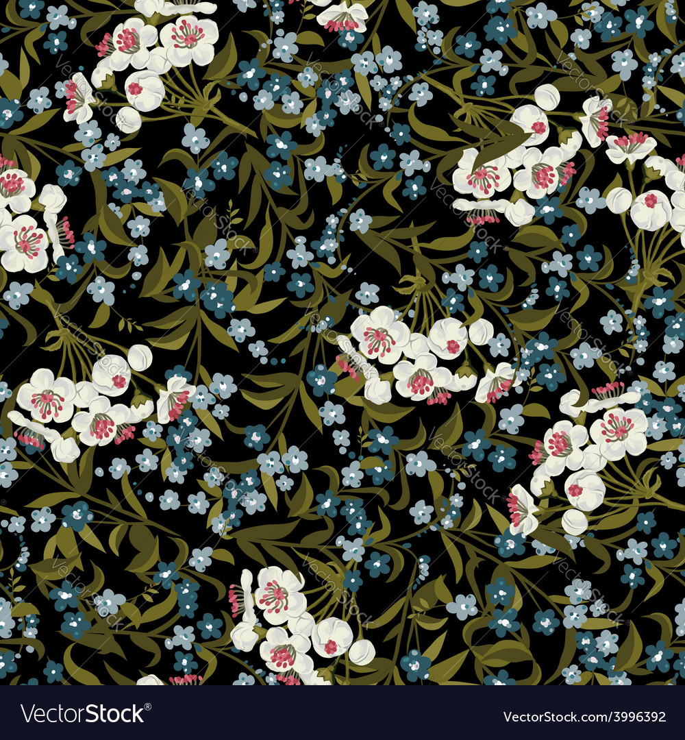 Abstract seamless floral pattern with vector | Price: 1 Credit (USD $1)