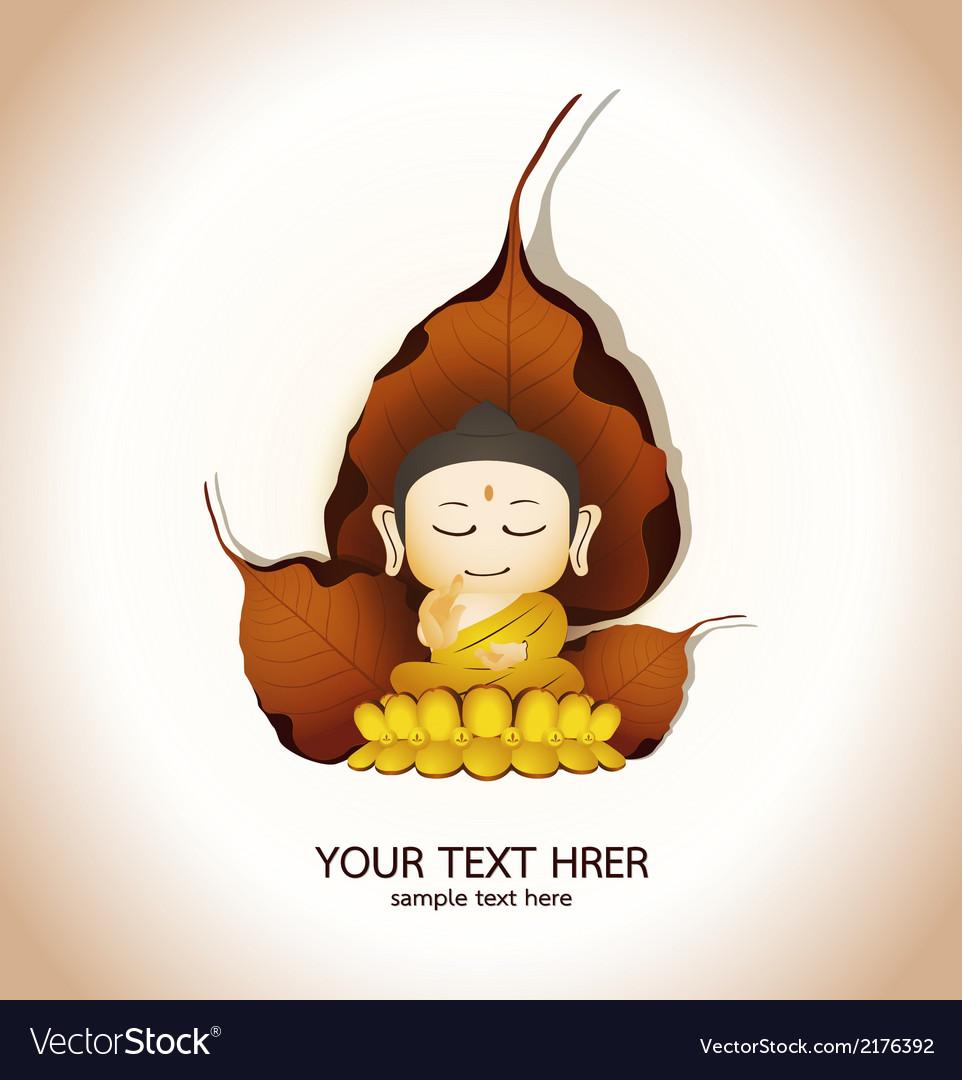 Buddha cartoon vector   Price: 1 Credit (USD $1)