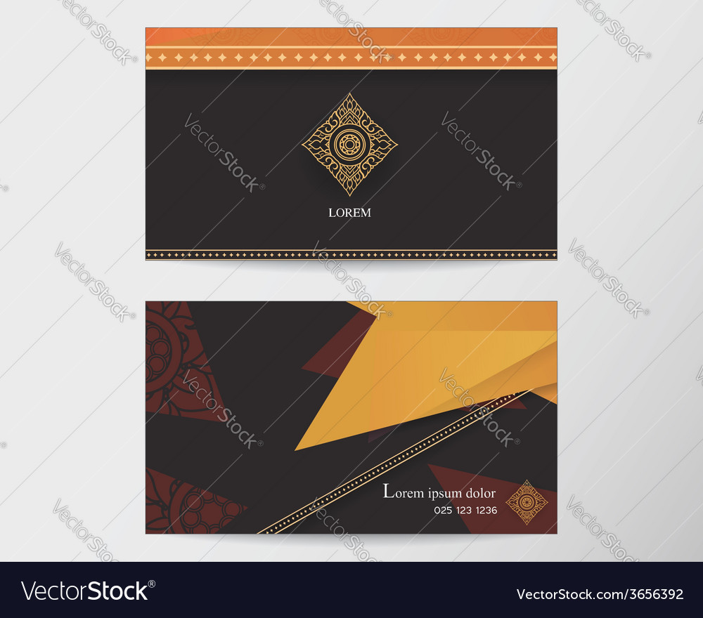 Card design template abstract creative thai style vector | Price: 1 Credit (USD $1)