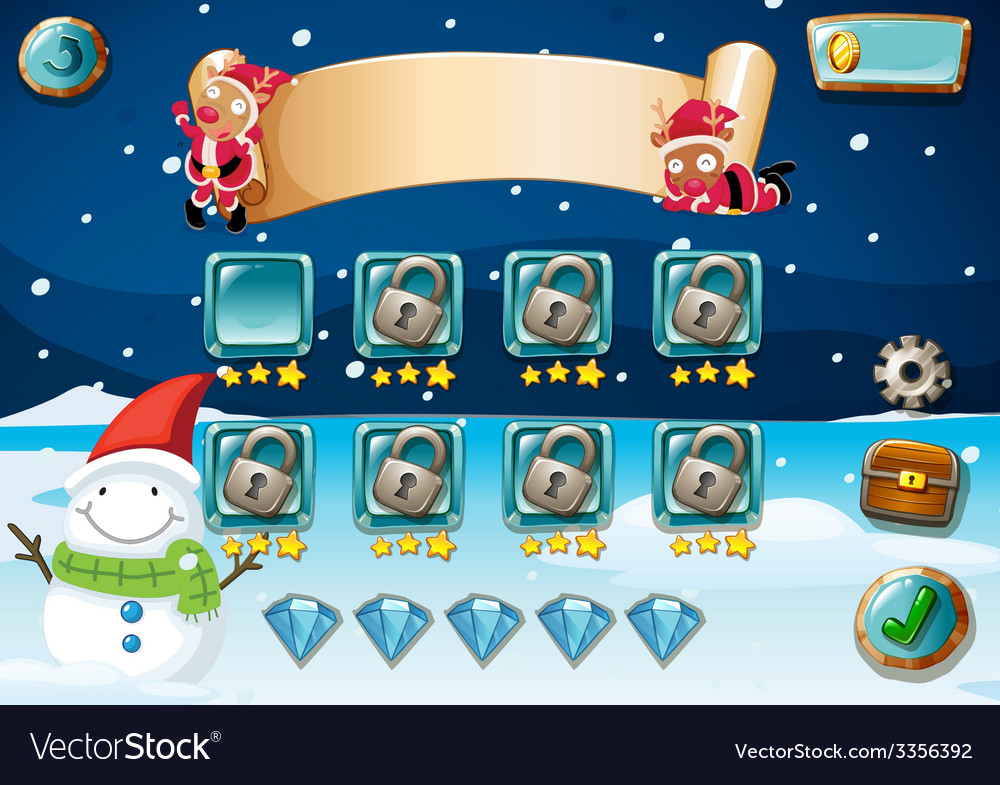 Christmas game vector | Price: 1 Credit (USD $1)