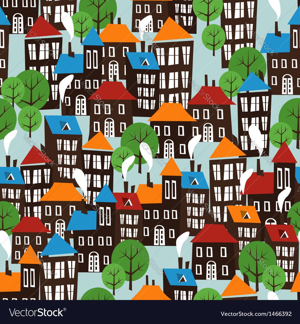 Christmas town seamless cartoon pattern vector   Price: 1 Credit (USD $1)