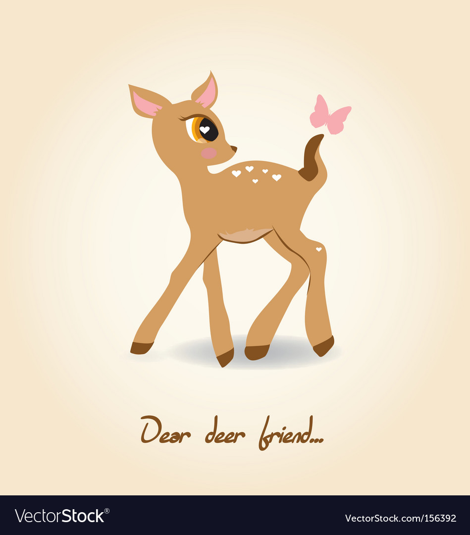Dear deer vector | Price: 1 Credit (USD $1)
