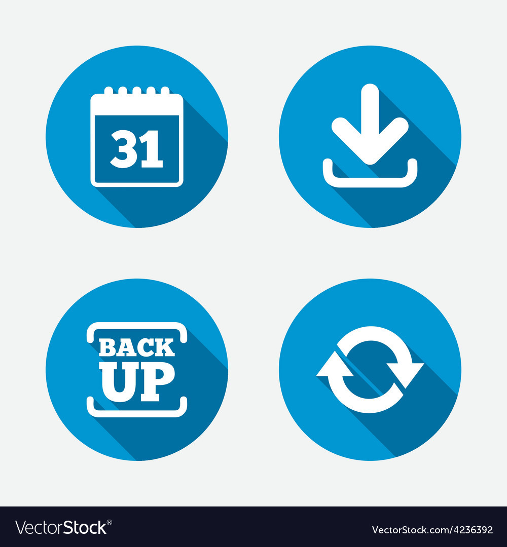Download and backup signs calendar and rotation vector | Price: 1 Credit (USD $1)