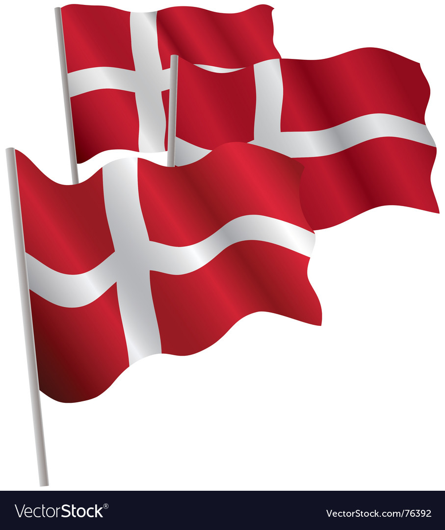 Kingdom of denmark 3d flag vector | Price: 1 Credit (USD $1)
