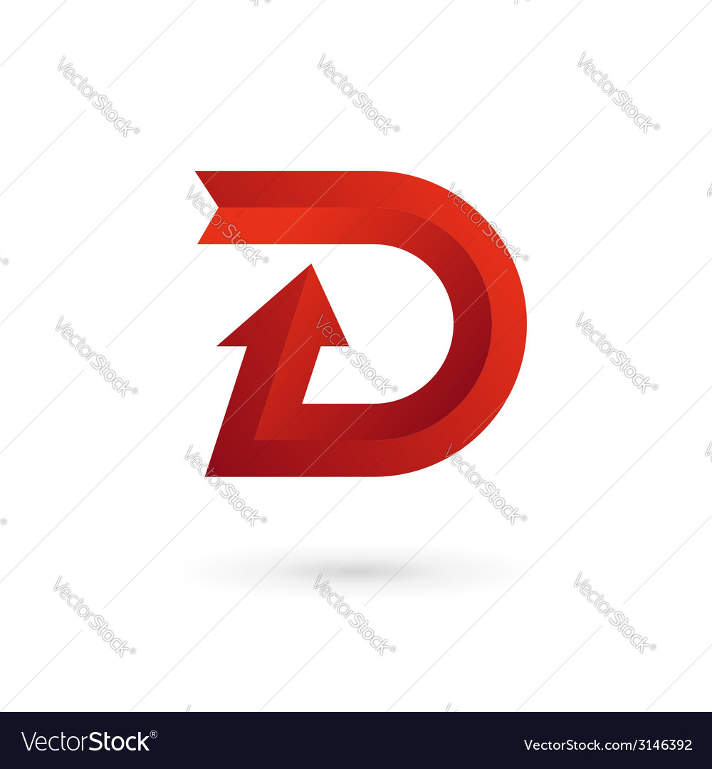 Letter d arrow ribbon logo icon design template vector | Price: 1 Credit (USD $1)