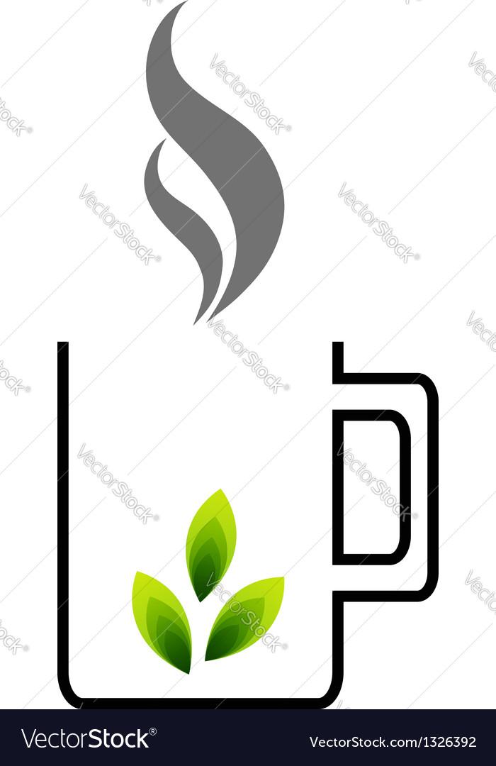 Organic tea vector | Price: 1 Credit (USD $1)