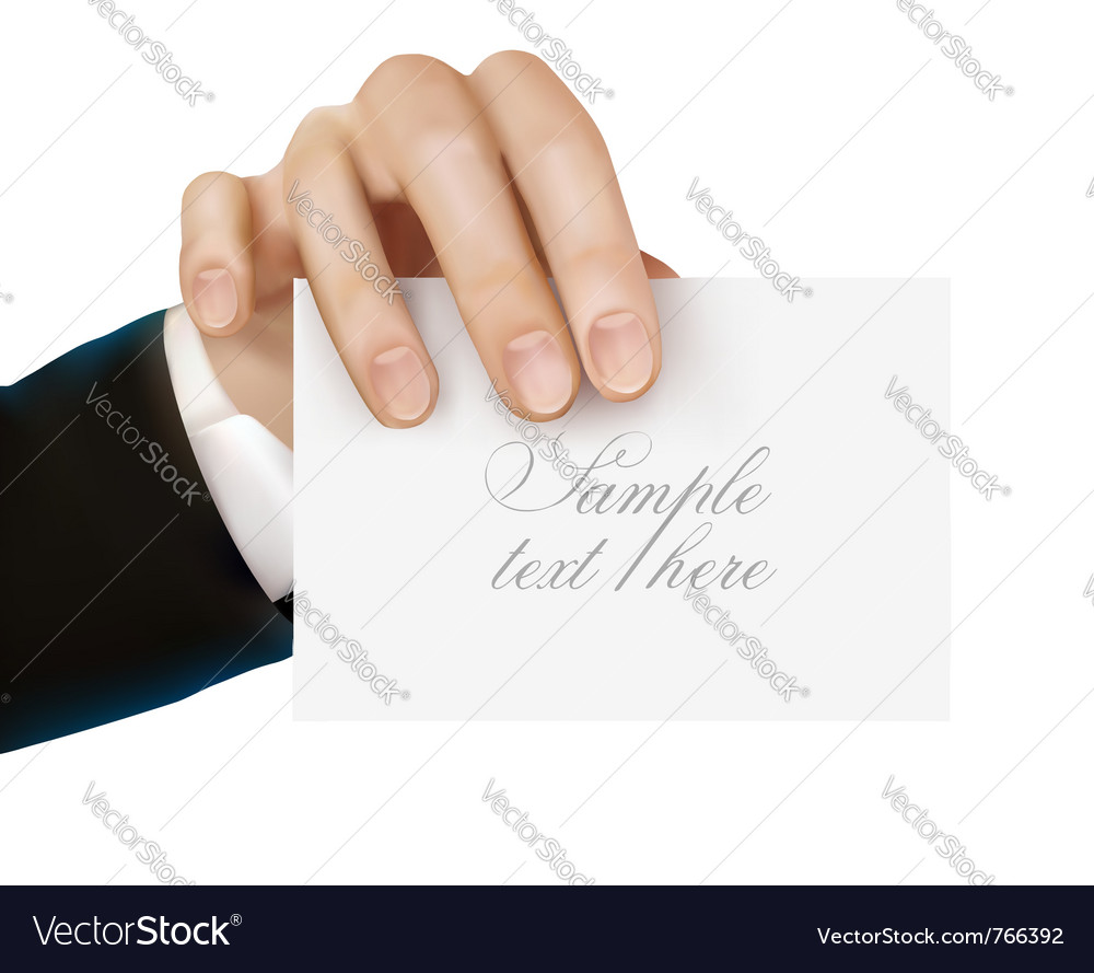 Paper card in hand vector | Price: 3 Credit (USD $3)