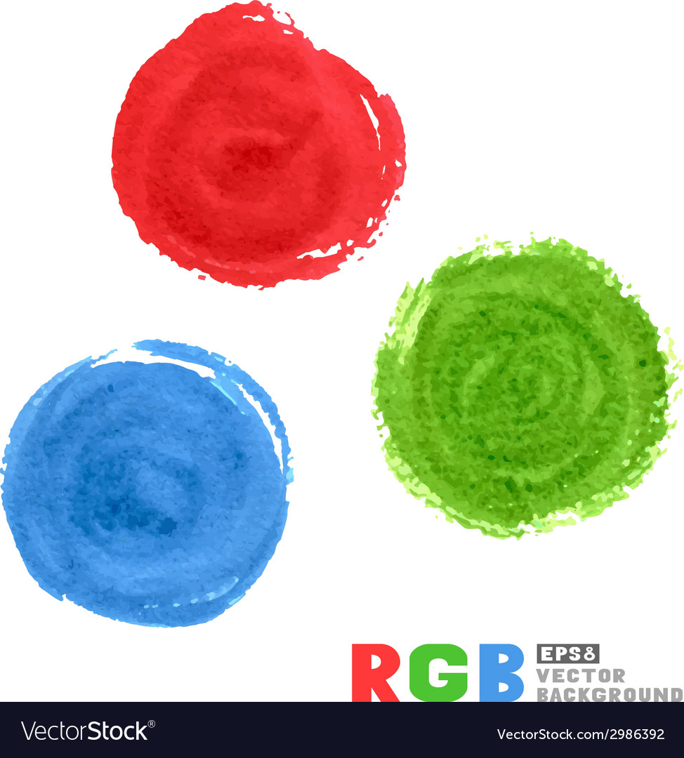 Rgb watercolor paint circles vector | Price: 1 Credit (USD $1)