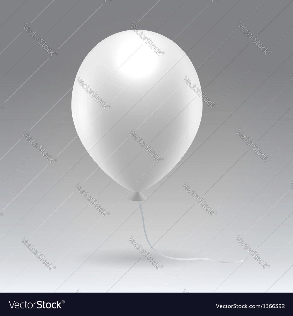 White glossy inflatable balloon vector | Price: 1 Credit (USD $1)