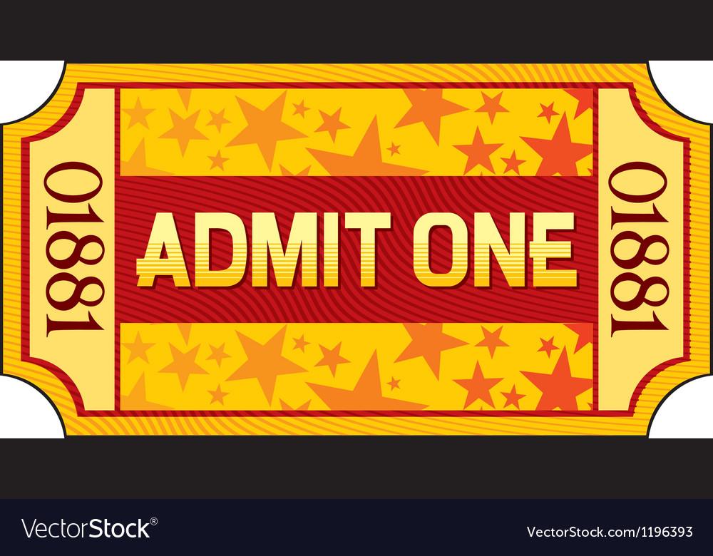 Admit one ticket vector | Price: 1 Credit (USD $1)